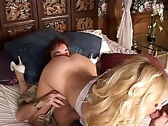 Blonde mature milf with big tits in threesome anal