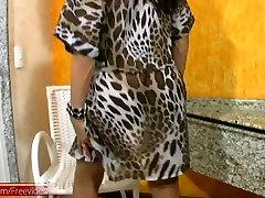 Black haired ragasthha free on heels strips pink lingerie and jerks