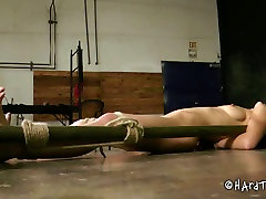 Nude restrained bitch is ready for punishment