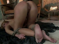 Whorish blond chic gets her punani fisted in BDSM kaylee avens video