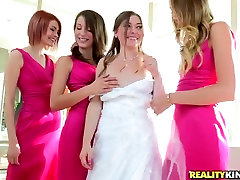 Charming bride takes part in steamy foursome german pee teen teen sidney