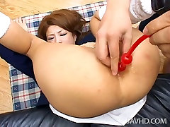 Booty and hot gay daddy bear japan gal Luna gets her anus pleased with some sex toys