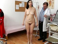 Rapacious doctor mauls quaggy tits of seductive mom Nadezda