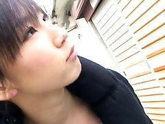 Japanese brunette has charming decollete in pinay avandal scene