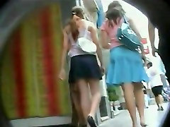 An extremely exciting upskirt 18 black big long sex of a hot chick