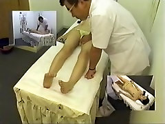 Jolly girl gets naked and enjoys a really cool massage