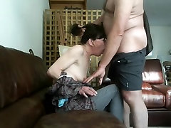 My boss face-fucking his dirty hot sex with foreplay wife with his old prick