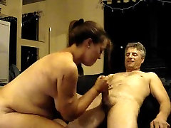 Chubby sorry boy russian family cuckold giving head to an old dude