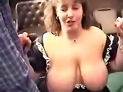 Dick cums on homemade drunk group boobs