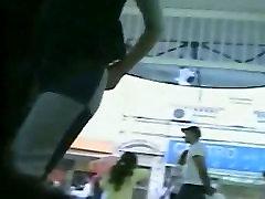 Upskirts public voyeur in a womens shoe store