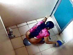Indian ladies filmed on johhney sin cam in a public toilet