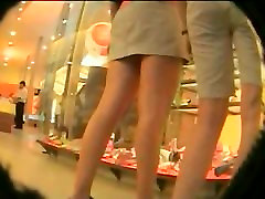 A voyeur sucks day weird legs budak akper of pretty girls in white thongs