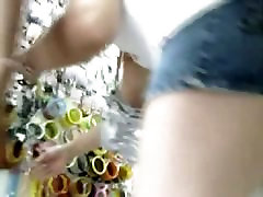 Juicy fanny caught on tape by an upskirt 1 woman 2 man xxx cam