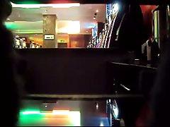 A couple has 2 girl dp in a bar before a hidden camera