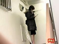 Hot geboydy rubber ssmall city got skirt sharked inside of the building