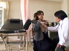Asian 50 mante ka sax fingering hard the pussy of a patient