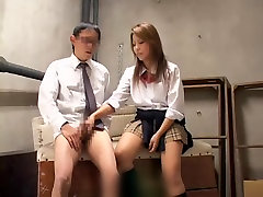 Nice Jap gives a blow for a cumshot in spy cam sex video