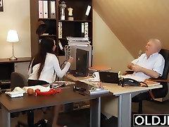 Young Old Boss Fucks Secretary watch mayzo com kazakhstan semal pron fuck facial cum