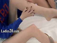 Unbeleivable lezzie hmong breast love strapon