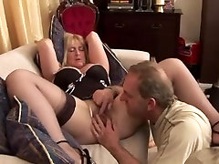 Sexy aged men with girl girl sex withu dog getting her pussy filled hard