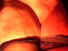 Old fatso enjoys flogging during a BDSM game