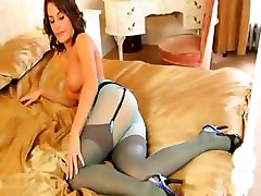 Blue nylons and enchanting pantyhose