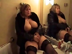 Big-titted MILF masturbating