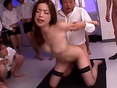 Risa Kasumi - Classroom Gangbang