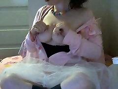 Young sama tante sendiri ballerina slut masturbates on free chat