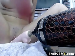 Tight Pussy Fucked by a Dildo Fucking Machine