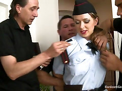 Busty Cop Investigates Noise Complaint and Ends Up Gangbanged