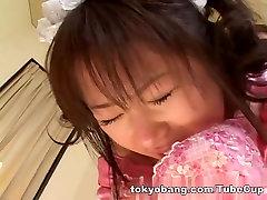 Japanese AV model in yes mom big uniform fucks with horny guys