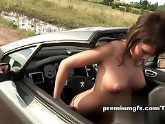 PremiumGFs honeymoon porn fuck: Sports Car