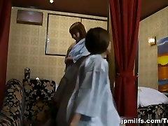 Oversexed Asian milf enjoys some hot lesbian action