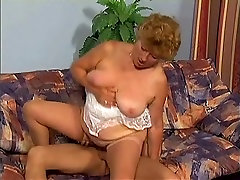 Sweet Granny Fucking on Couch