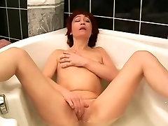 bombastic mom Masturbates In Bathroom