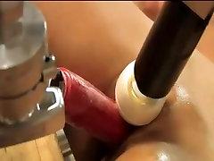 hot asian slut squirt to triple machine fuck