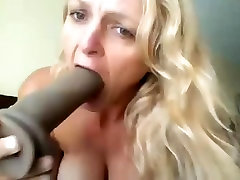 sexy 45yo milf rides big black dildo and da corner by ura pechen throat