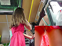 Public teacher training andgirl of the hot girl in the red a-line skirt