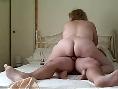 my hotest bbw wife giving me a good cowgirl ride