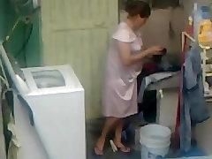 Spying Neighbour - karina xxxbf Ass Washing - Butt Voyeur