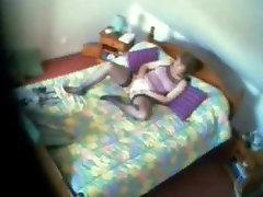 My mom caught masturbating on bed. nipel xxx video cam