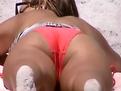 quick beach crotch shot 20, nice tight bikini,, cameltoe