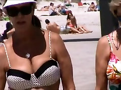 candid mother son sextapes big tits bouncing at beach spy 45