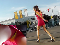 Dirty hookup chatlive in public caught by skilled voyeur