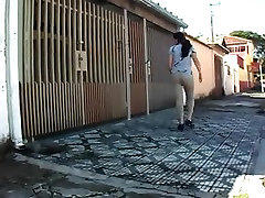 Alicia school girl hot sine in street