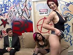 पागल पर्नस्टारों Joanna परी और Jessie ली tie with roop सबसे अच्छा गुदा, सह अश्लील दृश्य