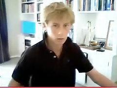 Amazing male in exotic handjob, blonde gay porn movie
