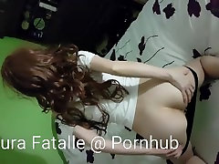 Step sister caught masturbating and spreading ass
