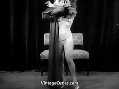 Sexy Girl Does a Puppet Dance 1950s Vintage